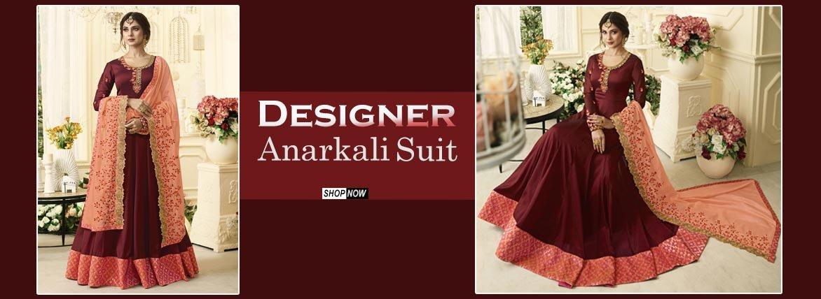 Indian Wedding Clothes Online - Designer Anarkali Suit